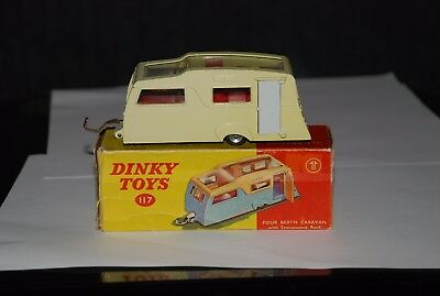 Dinky 117 Four Berth Caravan.Original condition in Original box.Must see