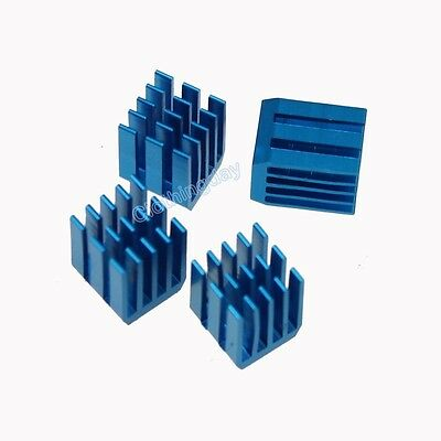 5pcs 9mm x 9mm  x 12mm blue Aluminum Heat Sink adhesive Tape For Memory Chip IC