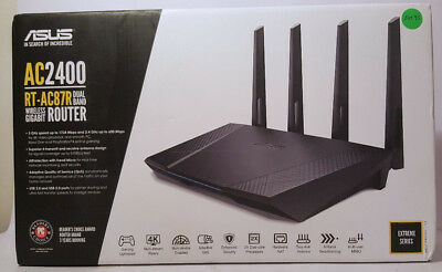 ASUS AC2400 RT-AC87R Dual Band Wireless Gigabyte Router Fully Tested