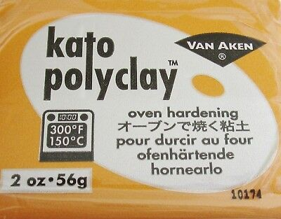 KATO POLYCLAY - Polymer Clay - 56g BLOCK - GOLD - CLEARANCE