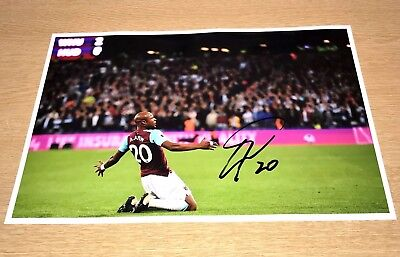 SALE ANDRE AYEW WEST HAM HAND SIGNED PHOTO AUTHENTIC GENUINE + COA - 12x8