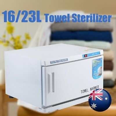 16/23L UV Towel Sterilizer Warmer Cabinet Disinfection Heater Hot Hotel Salon AU