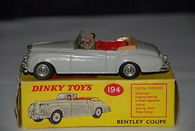 Dinky 194 Bentley Coupe.Original box.STUNNING condition MUST SEE