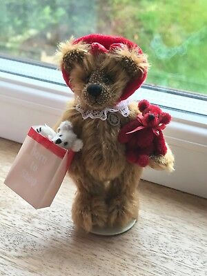 World of Miniature Bears Born to Shop 10cm standing mohair jointed bear