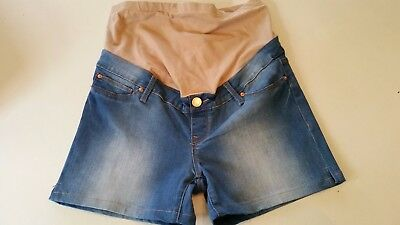Jeanswest Ladies Cute Denim Maternity Shorts Size 8 Perfect Condition