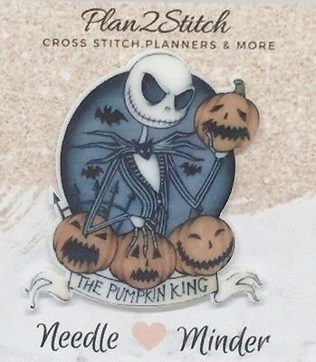 Pumpkin King Needle Minder For Cross Stitch/ Embroidery