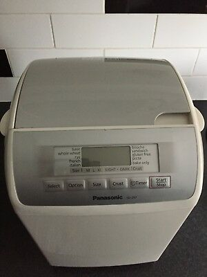 Bread Maker - Panasonic SD-257 White Used Good Condition with instructions