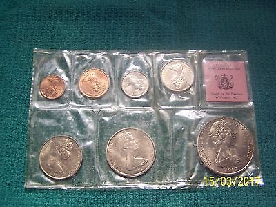 coins of New Zealand 1967 uncirculated 7 coins