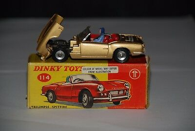 Dinky 114 Triumph Spitfire. Tiger in my tank .Stunning condition.MUST SEE
