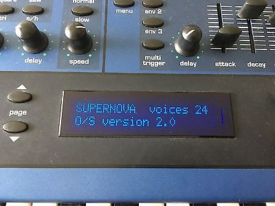 Novation Supernova II 2 Synthesizer 5 Octave keyboard or rack OS 2 EPROM