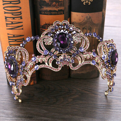 Vintage Wedding Bridal Rhinestone Queen Crown Headband Tiara Hair Accessories