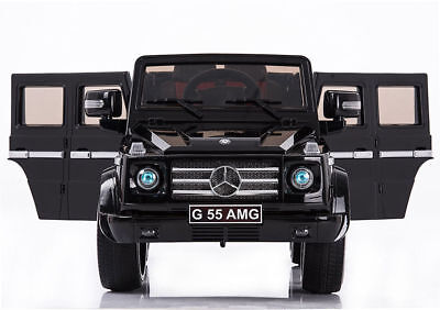 Kids Ride On Car Mercedes Benz G55 AMG 12V Power Rubber Wheels w/ Remote & Doors