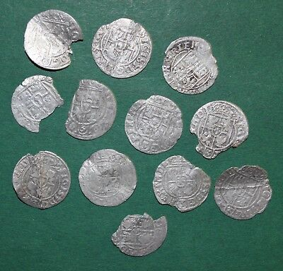 Silver Medieval Coins of Europe! Set 12 pieces!