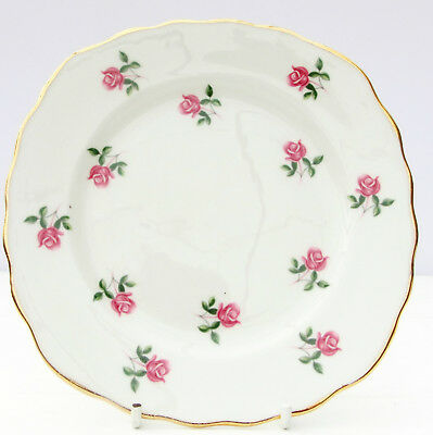Vintage Colclough Ditsy Pink Roses Bone China Tea Plate