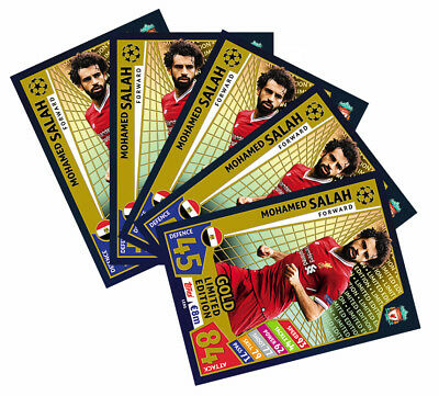 Match Attax Topps Champions League 2018  Salah Limited Edition Gold