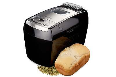 Andrew James Black Automatic Dual Blade 890W Bread Maker Machine 13 Programs