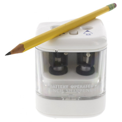 Duo Power Electric Pencil Sharpener. 2 Pencil Sizes - 6-8mm and 9-12mm.