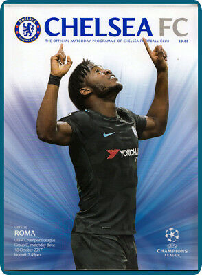 MACHDAY Programme of CHELSEA - ROMA / WED 18 OCT 2017 with Official TEAMSHEET