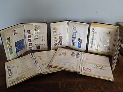 Job Lot of over 150  First Day Covers in albums