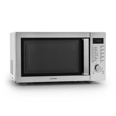 Klarstein Steelwave Microwave 800W / 1000W Grill Function Counter / Table Top