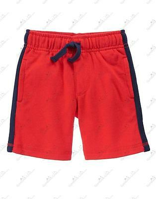 NWT Gymboree 6-12 Months Athletic Shorts Red w/ Blue White Side Stripe Baby Boys