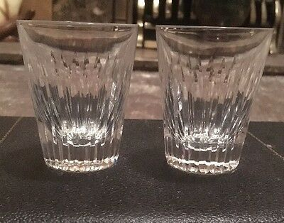 GUCCI Pair Of Large Crystal Shot Glasses. Rare Vintage* LAST FINAL REDUCTION *