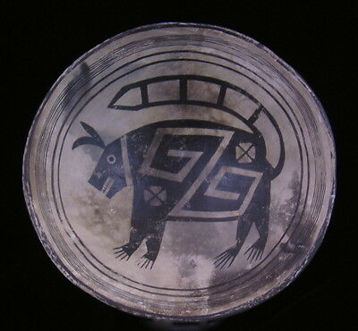 "Anasazi/Mimbres Bowl Replication:  ""Fantastic Creature"""