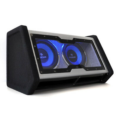 "Auna Dual 10"" Car Hifi Subwoofer Blue Led Lighting Powerful 2000W Subwoofers"