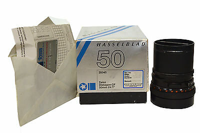 Hasselblad 20045 Zeiss Distagon CF 50mm F4 T Boxed with documents