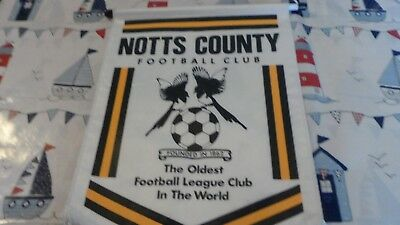 Notts County Fc - Large Football Pennant