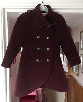 Girls Military Style Coat 4-5 yrs
