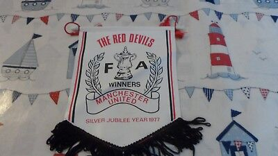 1977 Manchester United  Fc - Fa Cup Winners - Football Pennant