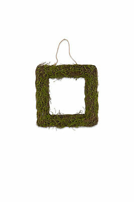 Faux Moss and Wicker Decorative Frame 30 x 30 cm Pack of 2