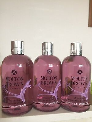 Molton Brown Blossoming Honeysuckle & White Tea Bath & Shower Gel 3x300ml New