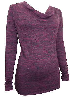 PLUS SIZE EX M&S LADIES WOMENS BURGUNDY Long Sleeve Cowl Neck Jumpers SIZE 10-20