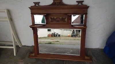 Antique Edwardian Overmantle Mirror