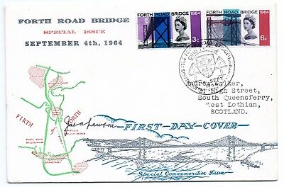 GB 1964 Forth road Bridge FDC South Queensferry special handstamp VGC