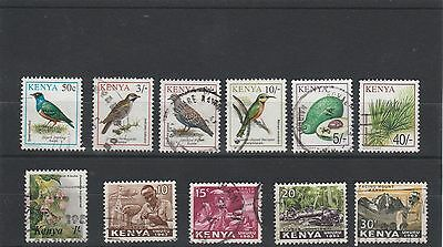 Kenya - Assortment Of Used Stamps