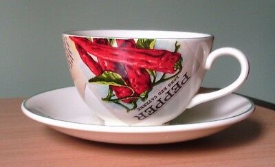 Poole Pottery Seed Packets Breakfast Cup And Saucer - New
