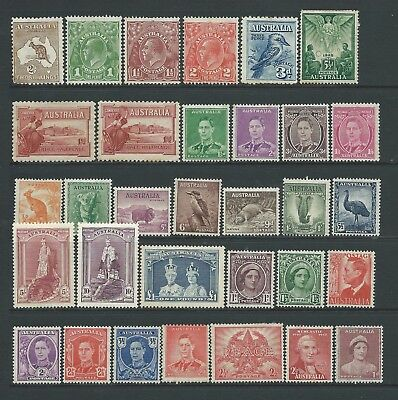 Small collection of mounted MINT Australia stamps.