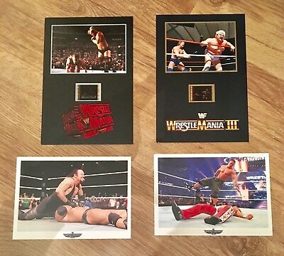 Wwe Wwf Senitype Film Cells & Wrestlemania Postcards New Rare