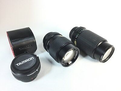 LOT OF VINTAGE MINOLTA MD MOUNT CLASSIC LENS BUNDLE tam ron Owen albinar zoom