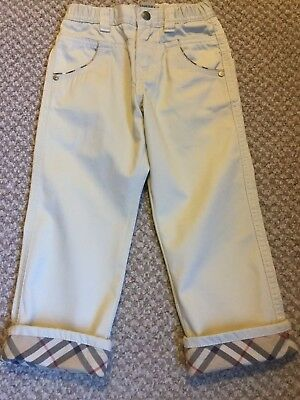Burberry Chino Style Boys Trousers/pants Age 3 Years