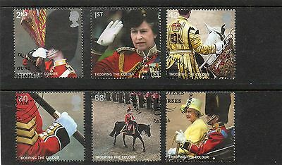 Sg2540-5 Gb Trooping The Colours Very Fine Used Set