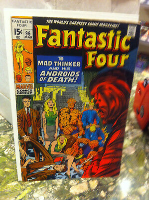 Fantastic Four #96...1970...the Mad Thinker And His Androids Of Death