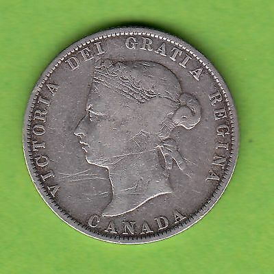 KANADA 25 Cents 1871 in Silber