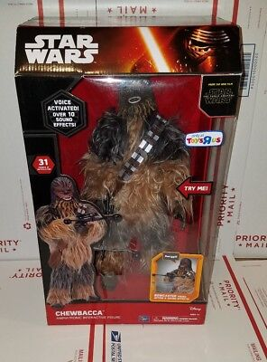 "Star Wars Chewbacca Animatronic Interactive Figure Voice Activated 17"" R2C"