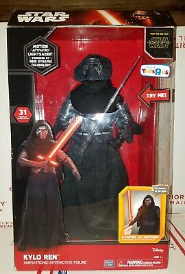 "Star Wars Kylo Ren Animatronic Interactive Voice Activated New Sealed 17"" R1C"