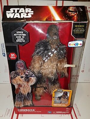 "Star Wars Chewbacca Animatronic Interactive Figure Voice Activated 17"" R1C"