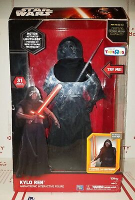 "Star Wars Kylo Ren Animatronic Interactive Figure Motion Activated New 17"" R2C"